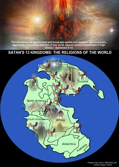 The 13 Kingdoms of Satan
