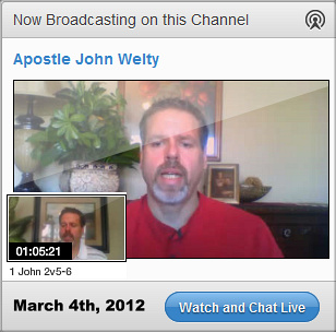 Apostle John Welty preaches about the transition of the church and new apostolic season. 1 John 2:5-6 broadcast.